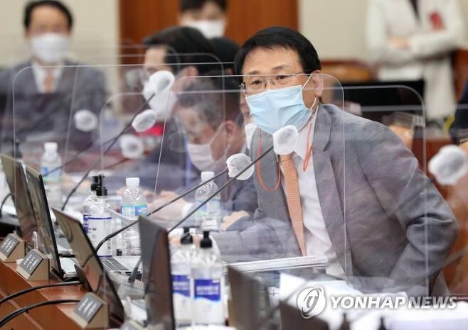 국감 질의하는 윤두현 의원 [연합뉴스 자료사진]