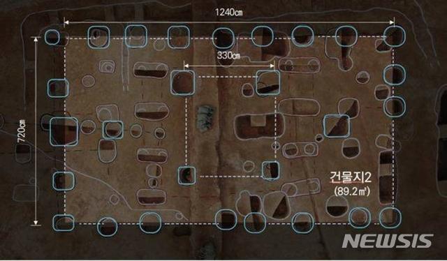 [서울=뉴시스]건물지2: 사비기 초기 대형건물지(사진=문화재청 제공)2020.10.13 photo@newsis.com
