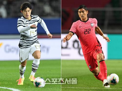 울산 현대 이동경(왼쪽)과 전북 현대 이주용. 김도훈·박진업기자
