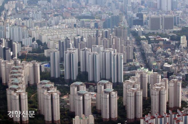 서울 아파트 전경. 김기남 기자