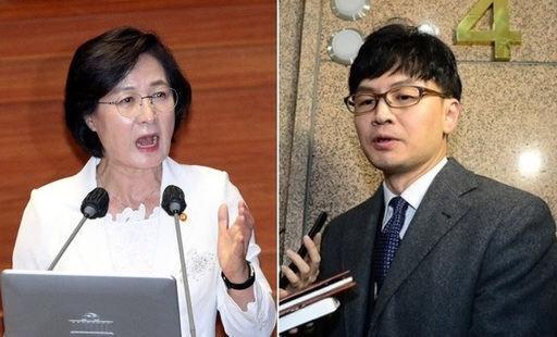 추미애 법무부 장관(왼쪽)과 한동훈 법무연수원 연구위원(검사장). 세계일보 자료사진