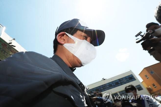 '묵묵부답' 김봉현 회장 [연합뉴스 자료사진]