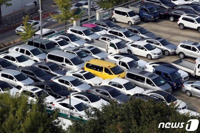 12일 서울 강서구 중고차 매매단지 모습. /사진=뉴스1