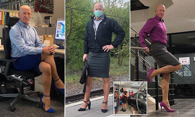 """""""내 출근룩은 치마에 하이힐""""…여성옷 입는 60대 남성의 사연"""
