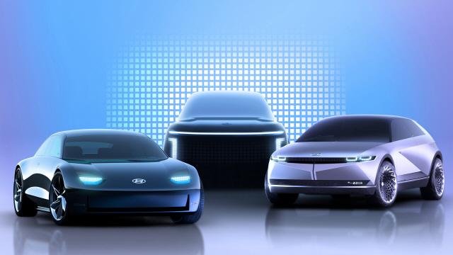 아이오닉 브랜드 제품 라인업 이미지. (왼쪽부터)아이오닉6, 아이오닉7, 아이오닉5./사진제공=현대차