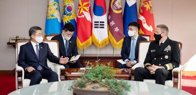 서욱 국방부 장관, 미국 인도·태평양사령관 접견 [국방부 제공. 재판매 및 DB 금지]