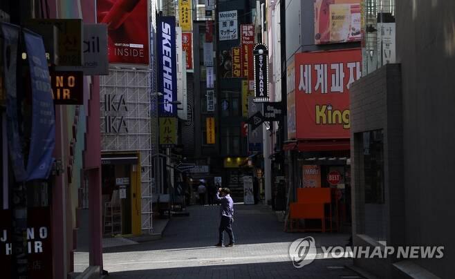 한산한 서울 명동 [연합뉴스 자료사진]