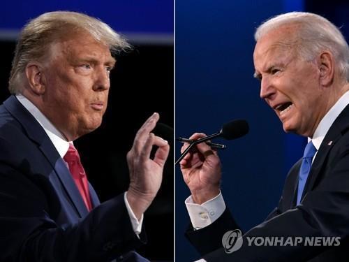 트럼프 대통령(왼쪽)과 바이든 후보 [AFP=연합뉴스]