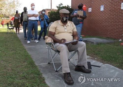 조지아주에서 사전투표 기다리는 유권자 모습 [AP=연합뉴스]