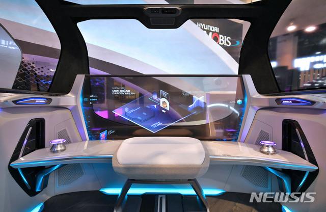 [서울=뉴시스]현대모비스가 올해 CES에서 공개한 도심형 자율주행 컨셉 M.Vision S에 적용된 미래 인포테인먼트 기술. 2020.08.27. (사진=현대모비스 제공)