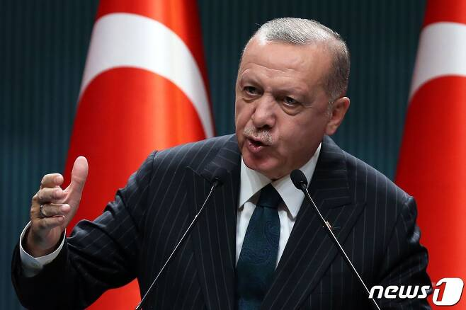 레제프 타이이프 에르도안 터키 대통령 © AFP=뉴스1 © News1 우동명 기자