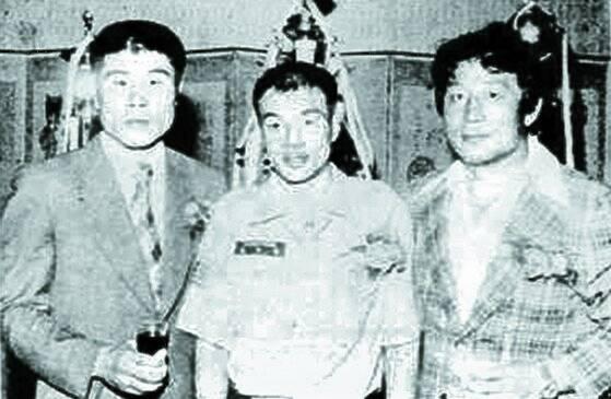 복싱 1,2,3호 세계챔프 김기수·홍수환·유제두(오른쪽부터). [사진 김기수기념사업회]