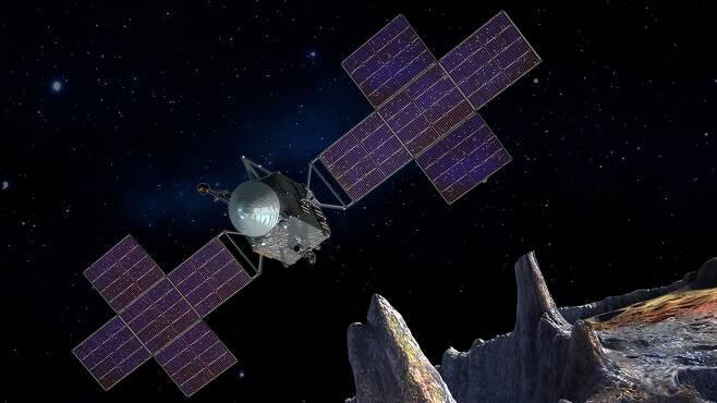 '16 사이키' 소행성에 보낼 NASA 우주선 상상도 [NASA 홈페이지 캡처·재판매 및 DB 금지]