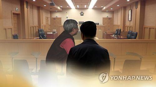 아들 살해한 노모 재판(CG) [연합뉴스TV 제공. 재판매 및 DB 금지]