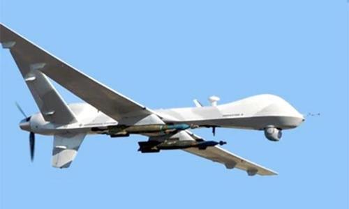 비행 중인 미국의 MQ-9 리퍼 무장 드론 [미 국방부 제공. DB 및 재판매 금지]