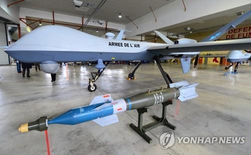 무장 장착이 가능한 MQ-9 리퍼 드론 [EPA=연합뉴스. DB 및 재판매 금지]