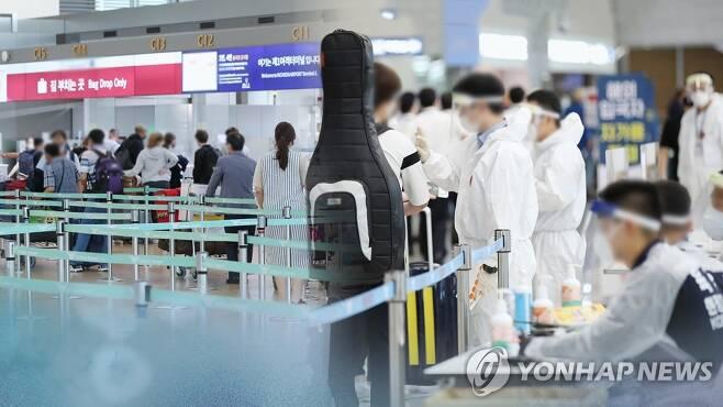 정부, 해외입국 격리자 제한적 중도 출국 검토 (CG) [연합뉴스TV 제공]
