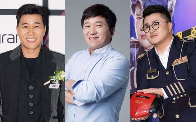 가수 김종민(왼쪽부터), 방송인 정형돈, 데프콘/사진=텐아시아DB, FNC엔터테인먼트