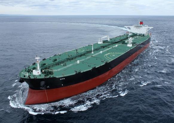 현대중공업이 건조한 초대형 원유운반선의 시운전 모습 [한국조선해양 제공. 재판매 및 DB 금지]