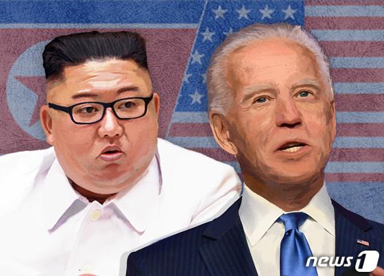 김정은 북한 국무위원장, 조 바이든 미국 민주당 대선 후보. © News1 이지원 디자이너