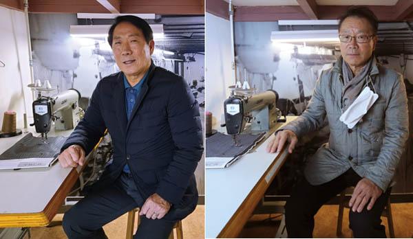 전태일기념관에서 전태일 열사의 친구 김영문씨(왼쪽)와 임현재씨 / 권도현 기자