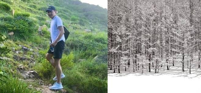 사진 왼쪽부터 홍정욱 올가니카 회장이 지난 8월 인스타그램에 올린 사진, 13일 페이스북에 올린 커버 사진./사진=홍정욱 인스타그램, 페이스북