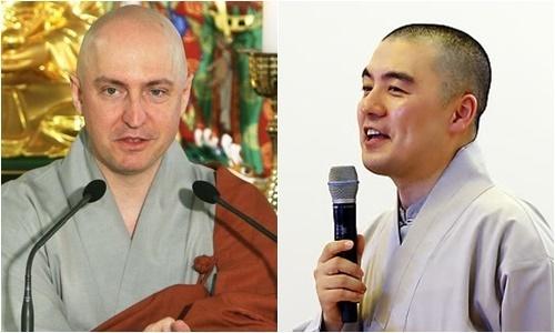 현각 스님(왼쪽)과 혜민 스님. 연합뉴스