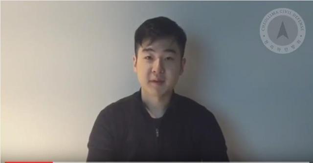 김정은 북한 국무위원장의 이복형 김정남이 2017년 피살된 뒤 자신을 김정남 아들인 한솔이라고 밝힌 남성이 유튜브에 올린 동영상 캡처. 뉴시스