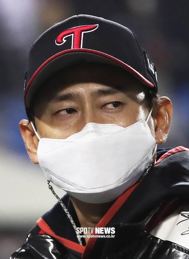 ▲ 5일 두산과 준플레이오프 2차전은 그의 현역 마지막 경기였다. ⓒ 곽혜미 기자