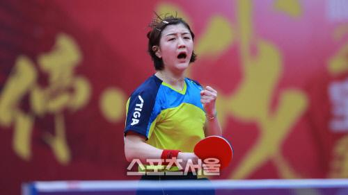 여자단식 세계최강 중국의 첸멍. 출처=국제탁구연맹(ITTF) 홈페이지