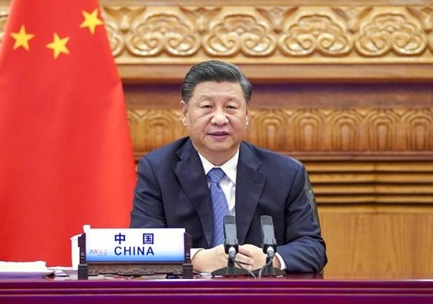시진핑 중국 국가주석이 지난 17일 브릭스 정상회의에서 발언하고 있다. /신화통신 연합뉴스