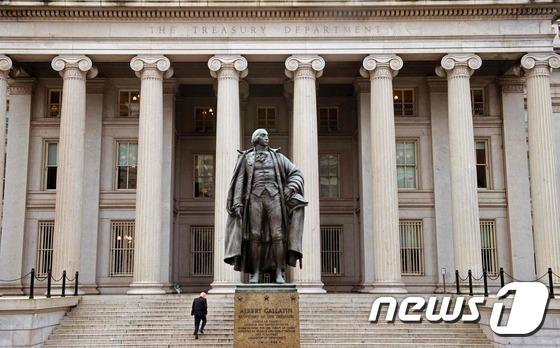 워싱턴 DC에 있는 재무부 청사. © AFP=뉴스1