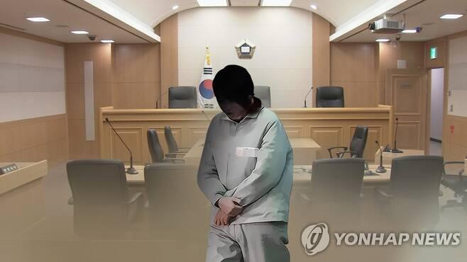 여성 재판 (CG) [연합뉴스TV 제공]