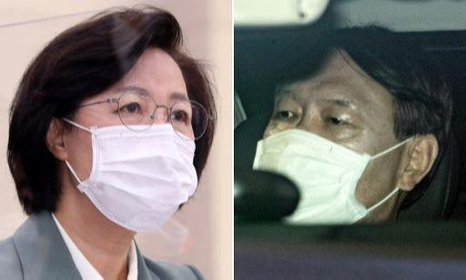 추미애 법무부 장관(왼쪽)과 윤석열 검찰총장. 뉴스1