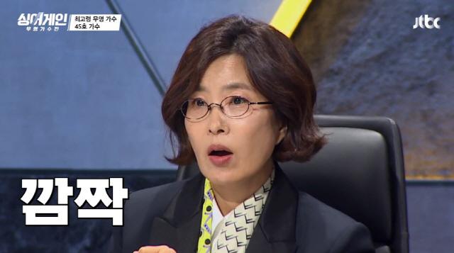 '싱어게인' 참가자의 정체를 알고 깜짝 놀라는 심사위원 이선희 / 사진=JTBC 방송화면 캡처