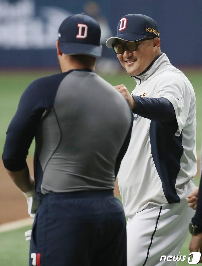LG 트윈스 배터리코치로 내정된 조인성 코치. /뉴스1 © News1 김진환 기자