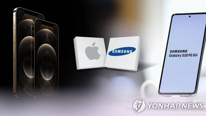 5G 지원 아이폰12 공개…삼성과 가을대전 본격화 (CG) [연합뉴스TV 제공]