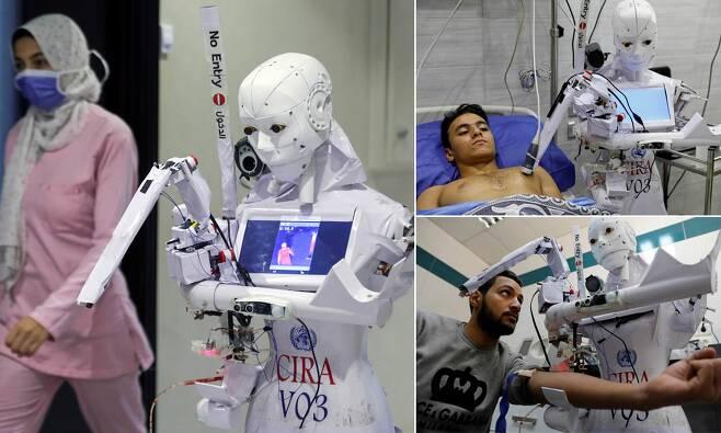 이집트 코로나19 검사 로봇 시라-03(사진=로이터 연합뉴스)