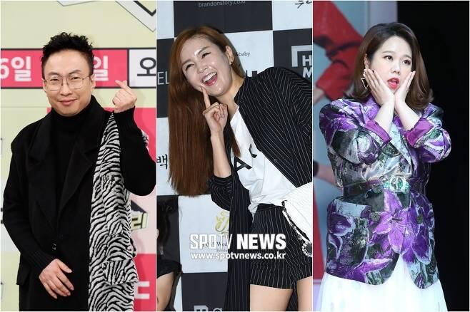 ▲ 코로나19 검사를 받은 박명수, 장영란, 홍현희(왼쪽부터). ⓒ곽혜미 기자
