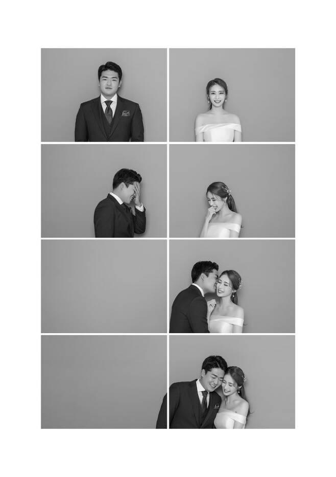 ▲ 삼성 심창민(왼쪽)-신부 박수현씨. ⓒ 삼성 라이온즈