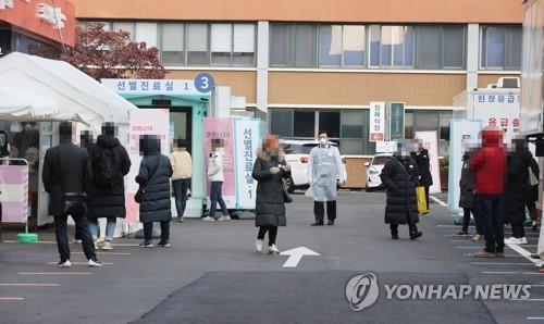 코로나19 검사 모습 [연합뉴스 자료사진]