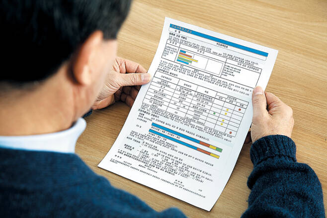 건강검진 후 확인할 수 있는 결과표는 전신 건강을 알아볼 수 있는 지표이므로 꼼꼼히 확인하는 게 좋다. /신지호 헬스조선 기자