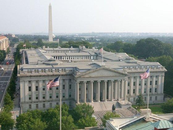미국 워싱턴DC에 위치한 재무부 건물. [위키피디아]