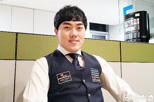 코리아 당구 그랑프리 1차 대회 우승자 김준태(사진=엠스플뉴스 이근승 기자)