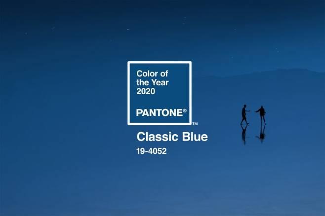 세계적인 색채 연구소인 팬톤이 공개한 2020년 올해의 색상 클래식 블루