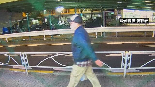 일본 경시청이 공개한 현장 CCTV 화면