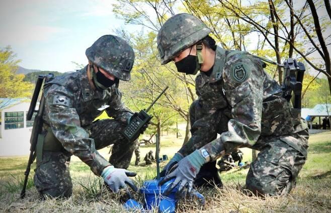 육군 신임 장교들이 전남 장성의 상무대에서 교육훈련을 받고 있다. 육군 제공