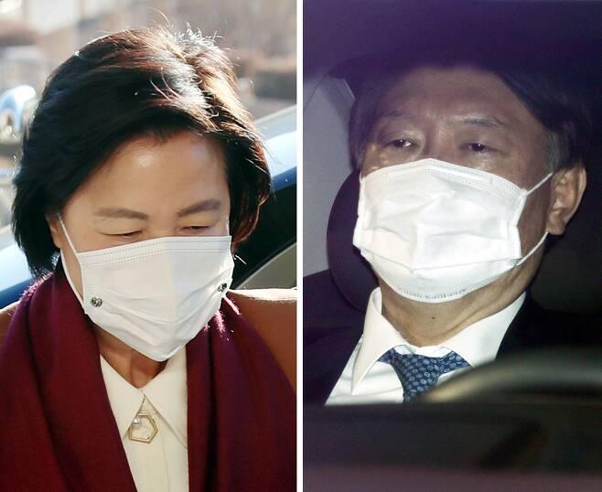 추미애(왼쪽) 법무부 장관과 윤석열 검찰총장/뉴시스