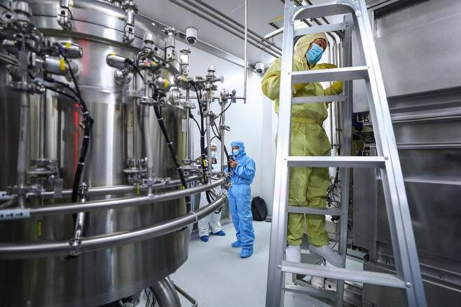 중국 베이징의 시노팜 백신 생산시설. /AP 연합뉴스
