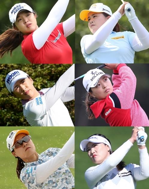2020년 미국여자프로골프(LPGA) 투어 CME그룹 투어챔피언십에 출전하는 김세영, 박인비, 고진영, 유소연 프로(사진제공=KLPGA). 양희영, 전인지(사진제공=Getty Images).